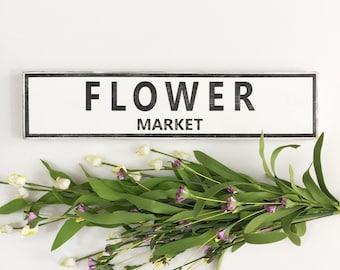 Rustic FLOWER MARKET Sign, Spring Decor, Garden sign, Fresh Cut Flowers