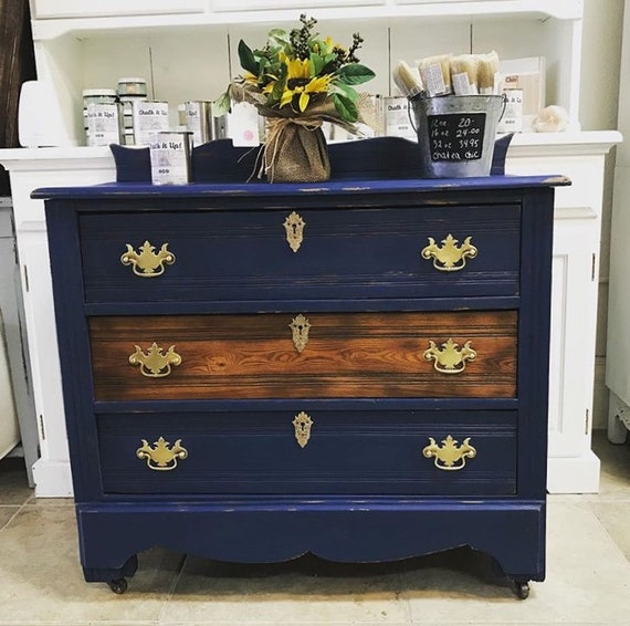 image 0 - Blueberry Chalky Furniture Paint Paint For Furniture Antique Etsy