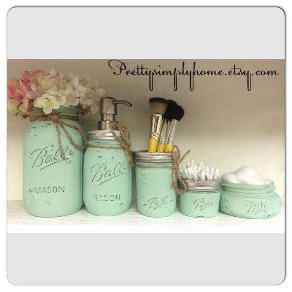 Decorative Soap Balls: Mason Jar Bathroom Set Ball Mason Jars Farmhouse Decor