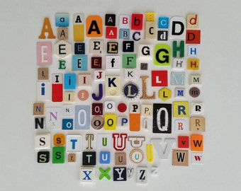 100 assorted alphabet letters, scrabble letters, vintage letters, game letters, letter tiles for gifts, projects, word signs, and more