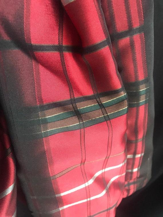 petticoat lining - black,plaid girls 18 months Tartan designer sleeveless dres w bloomers velvet rhinestone belt red