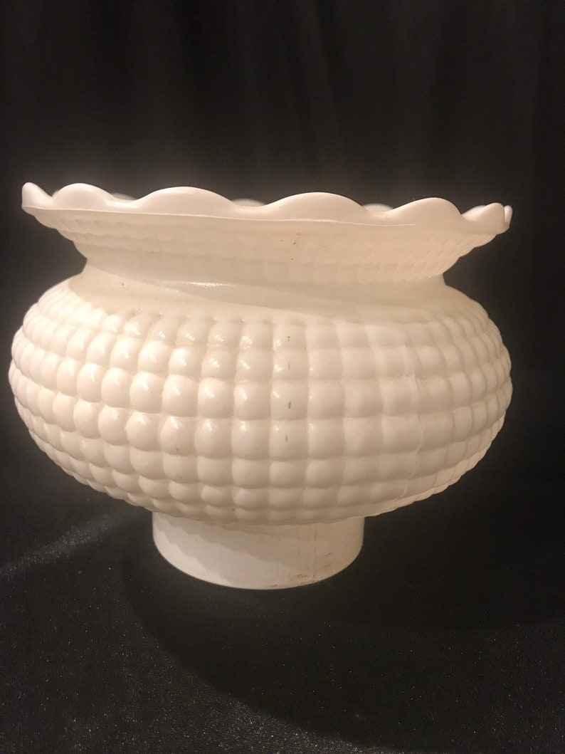 Vintage 6-Inch Drum Shade Replacement Glass Shade 5-7//8-Inch Fitter Opening