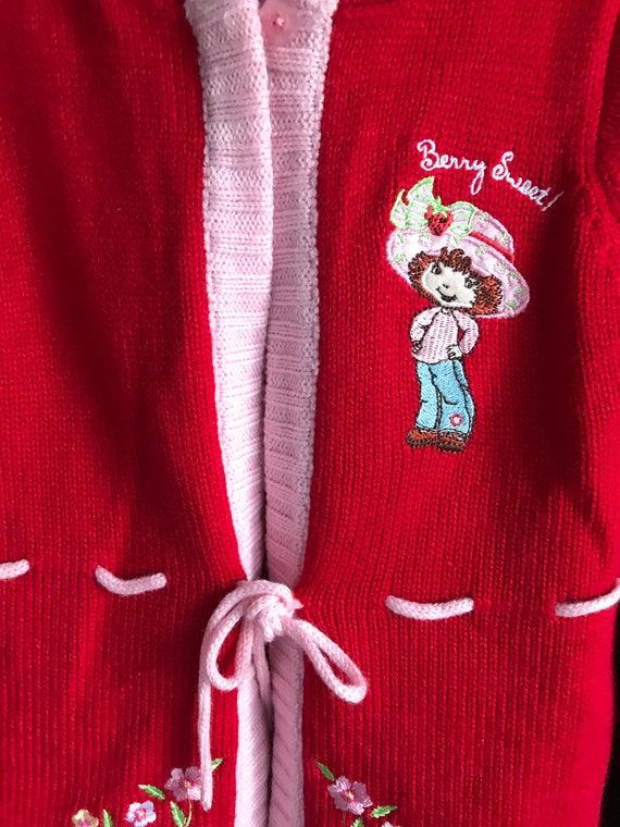 Strawberry shortcake red sweater , hooded sweater