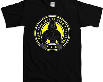 5bce8a0f Funny Workout Shirt I Find Your Lack Of Form Disturbing Weight Lifting  Shirt Gym T Shirt Workout Clothing Gym Gifts Mens Tee WT-202