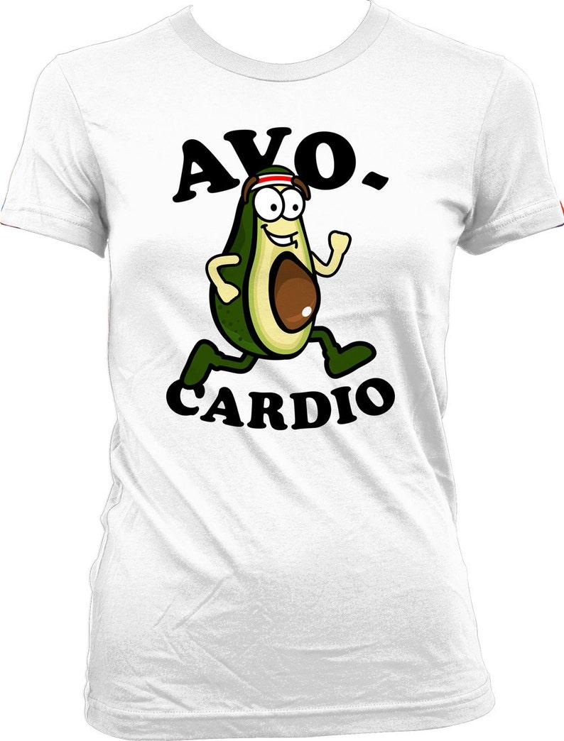 45399193 Funny Running Shirt Avo-Cardio Shirt Running Gifts Shirt For | Etsy