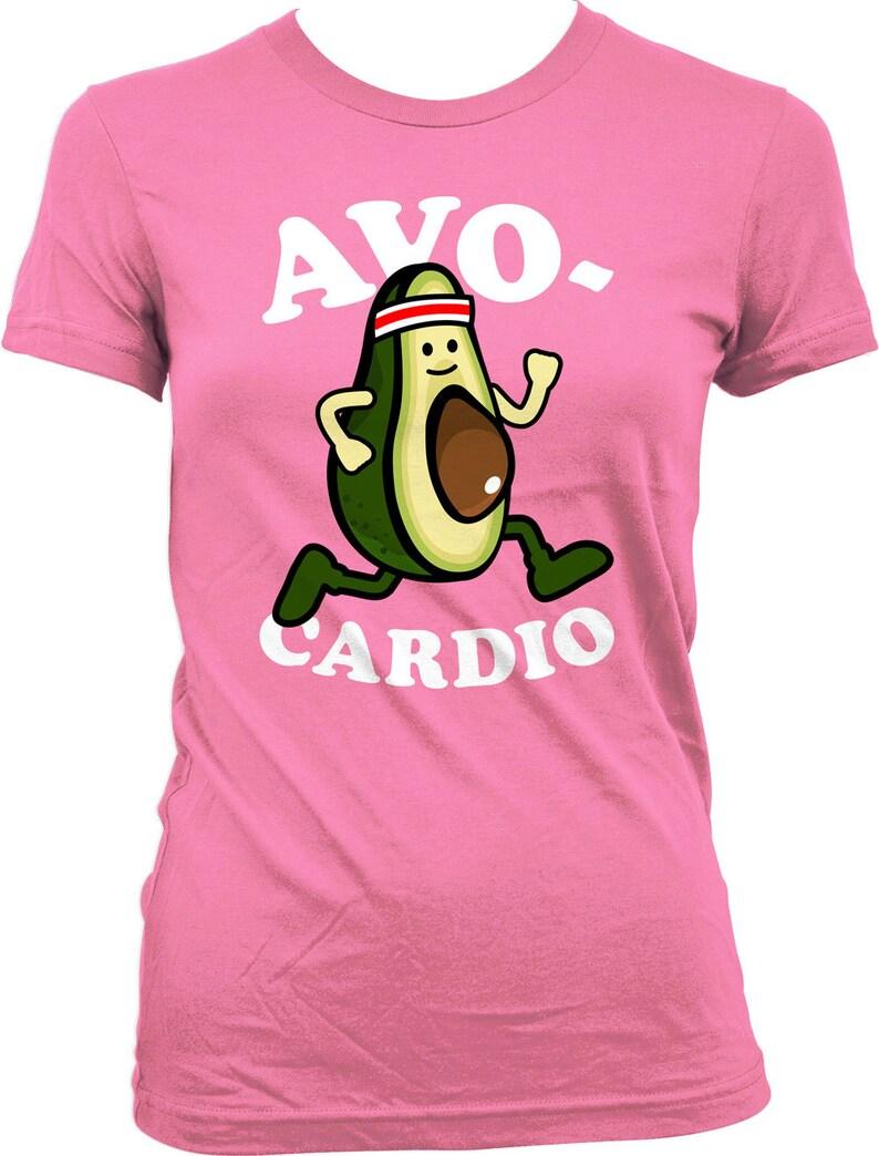 35e1d60a Funny Running Shirt Avo-Cardio Shirt Running Tops Exercise | Etsy