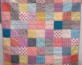 Quilt Kit - Gardenvale Dots & Strips Baby Quilt Kit / Small Lap Quilt Kit / Fabric and Wadding Bundle - UK Shop