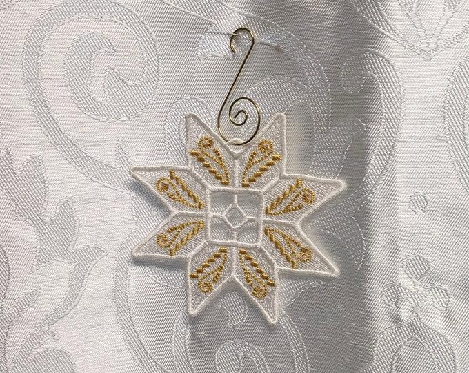 Glistening Snowflake Ornament