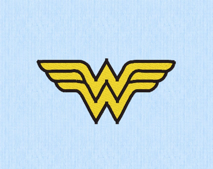Wonder Woman Embroidery Design