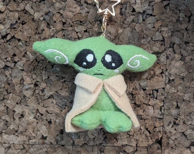 Small Green Alien Plush Keychain