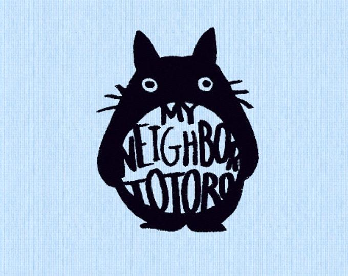 Totoro Embroidery Design