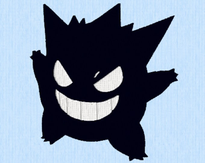 Gengar Embroidery Design