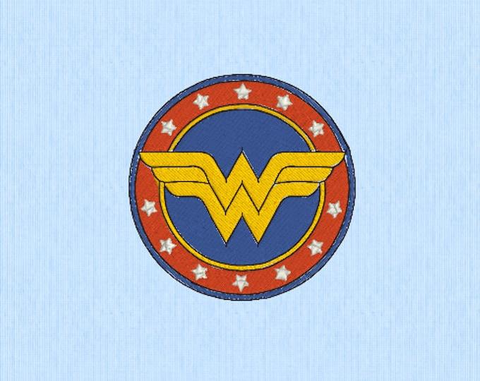 Wonder Woman Emblem Embroidery Design