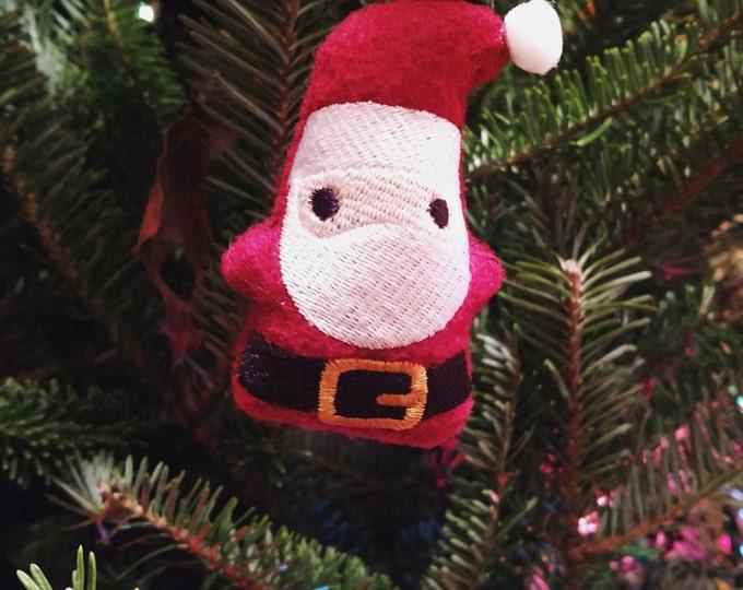 Little Santa Stuffed Ornament