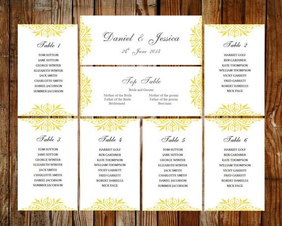 Hochzeit Sitzgelegenheiten Diagramm Exquisit Download Etsy