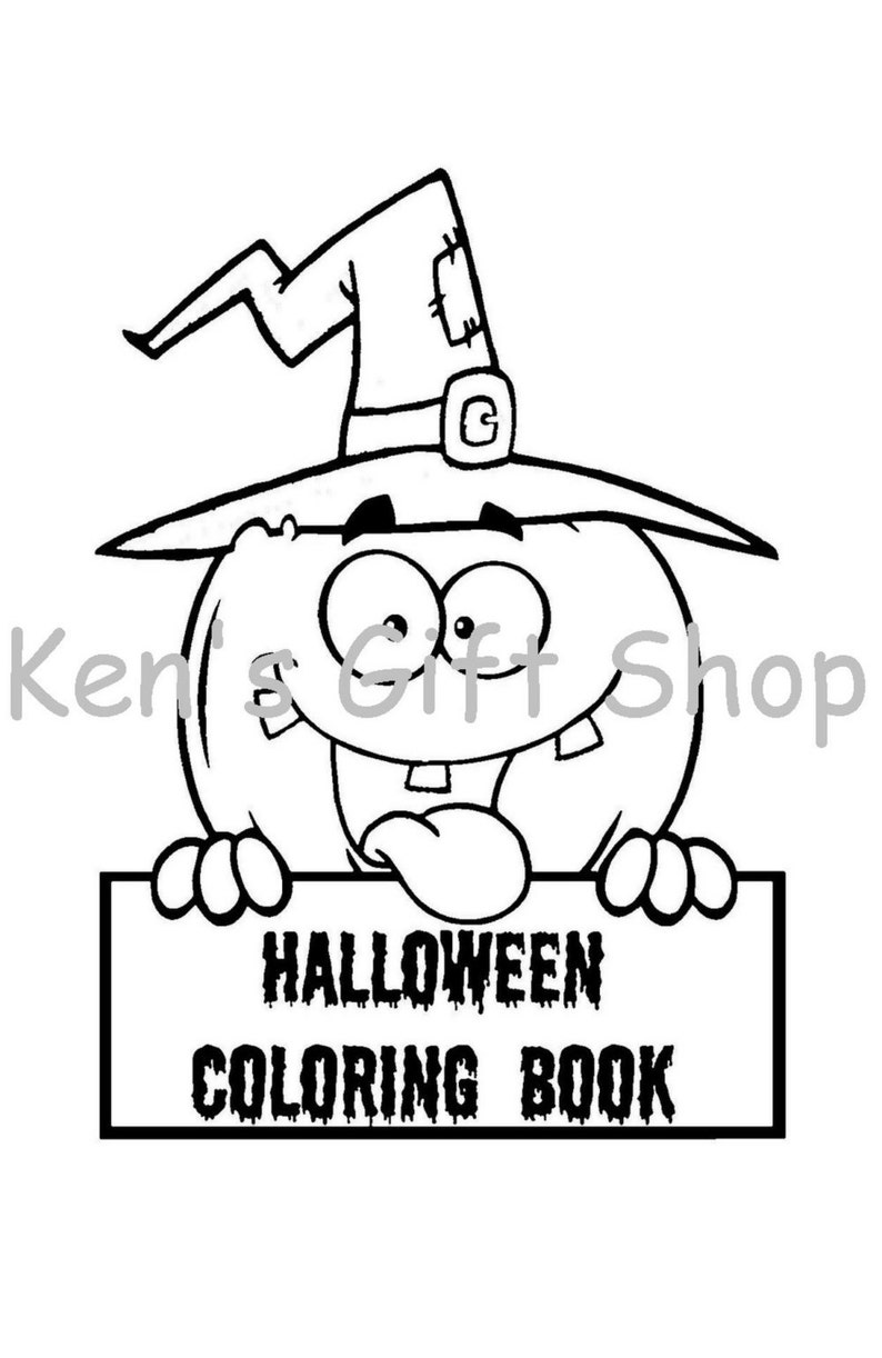 Digital Halloween Coloring Book Pdf Etsy
