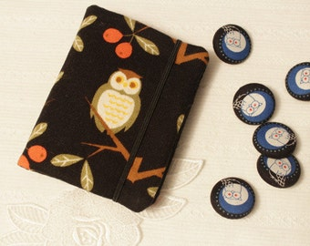 Owl business card etsy card holder credits cards holder business cards holder night owl on black background colourmoves