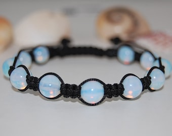Fertility bracelet Moonstone Yoga Bracelet Energy Bracelet June Birthstone Meditation Bracelet Adjustable bracelet Healing Crystal