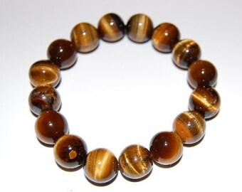 Yellow Tiger Eye Stone Bracelet,Yellow Tiger Eye 10mm Beads,Pray,Spirituality,Mala,Protection,Meditation,Yoga,Mens