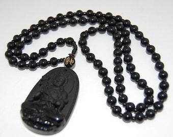98389bc17d Buddha collana, collana buddista, Buddha nero, collana nera, spiritualità,  Mala, preghiera, uomini, donne, collana Yoga, protezione, meditazione,  regalo