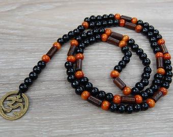 Om Necklace,Aum Wood Necklace,Balance Necklace,Men,Women,Wood Necklace,Spirituality,Prayer,Yoga,Protection,Meditation,Positive Necklace
