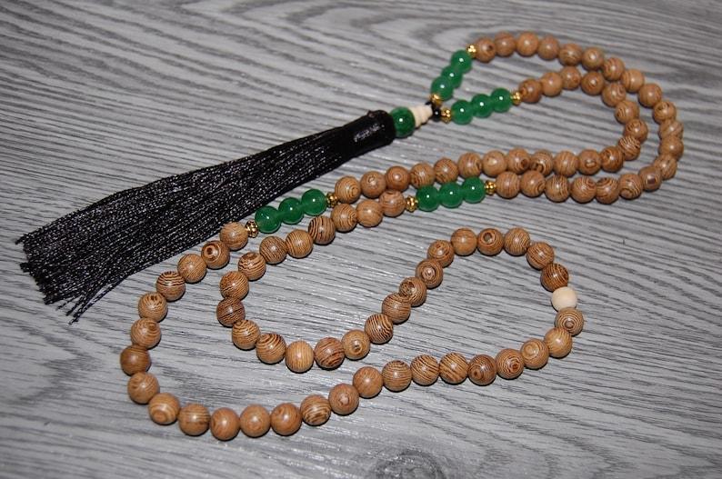 Tassel Necklace,108 Beads Yoga Necklace,Mala Wood Necklace,Necklace Beaded Necklace Men Woman,Protection,Mala,Buddhist,Meditation,Prayer