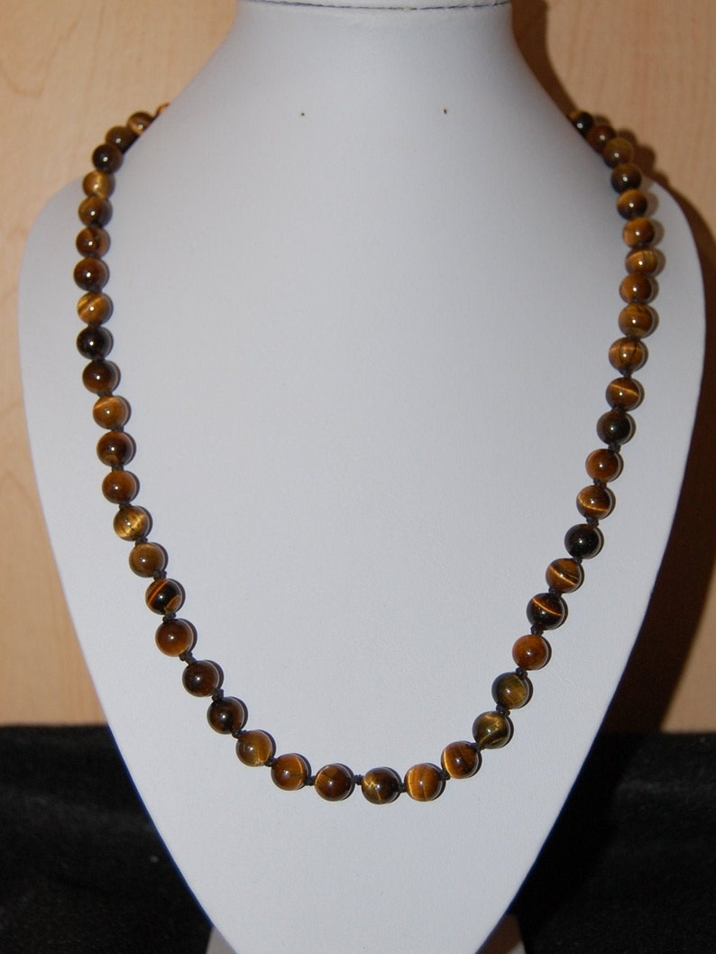 60s -70s Jewelry – Necklaces, Earrings, Rings, Bracelets Tiger Eye NecklaceHand Knotted Tiger Eye Gemstone Necklace8mm Gemstone BeadsMenWomenClassic NecklaceSpiritualityPrayYogaProtection $29.99 AT vintagedancer.com