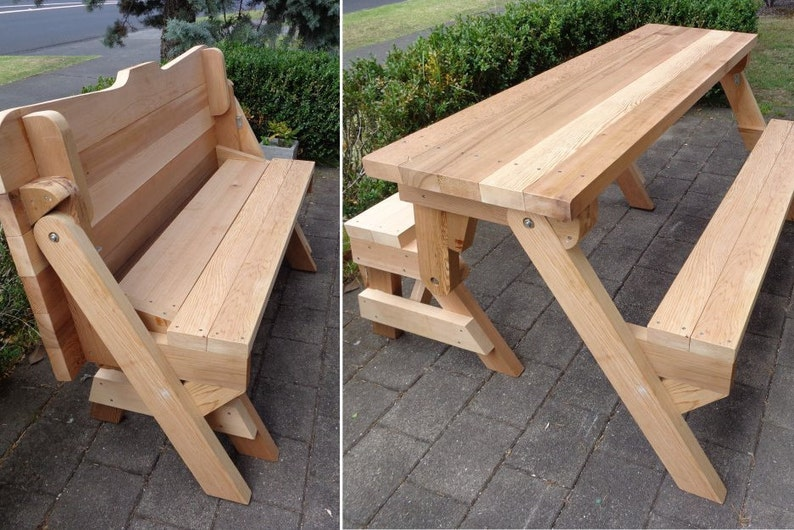 Delicieux One Piece Folding Bench And Picnic Table Plans   Downloadable PDF File