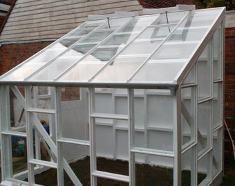 Plans for a lean-to glasshouse  |  PDF downloadable file