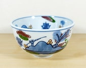 Japanese Rice bowl by Gen-emon Kiln, Landscape Hand-painted, Blue and White Porcelain Soup bowl Dip bowl, Arita-ware Imari-ware, Nippon2You