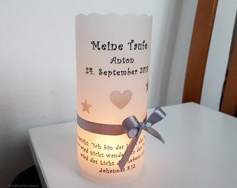 10 Personalized Light Sleeves Tealight Sleeves f. Table Light Windlights Table Decoration Baptism Communion Confirmation Stars Handmade binnbonn