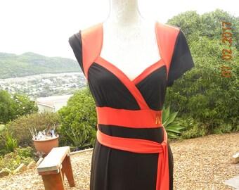 Long brown vintage dress, long brown maxi dress, long brown summer dress, ginger mary dress, long orange dress, as new, size uk 14 usa 12