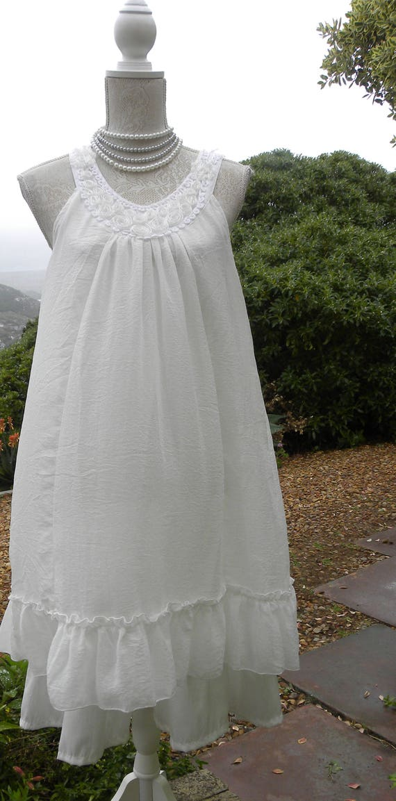 6d518e824d2c White hand made tunic dress white smock dress summer smock