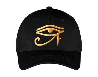 b0199bea87c Eye of Horus Eqyptian Embroidered Edgy Baseball Cap