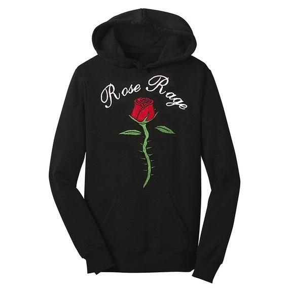 Brode Sweatshirt Rose Fleur A Capuche Boho Boheme Tumblr Etsy
