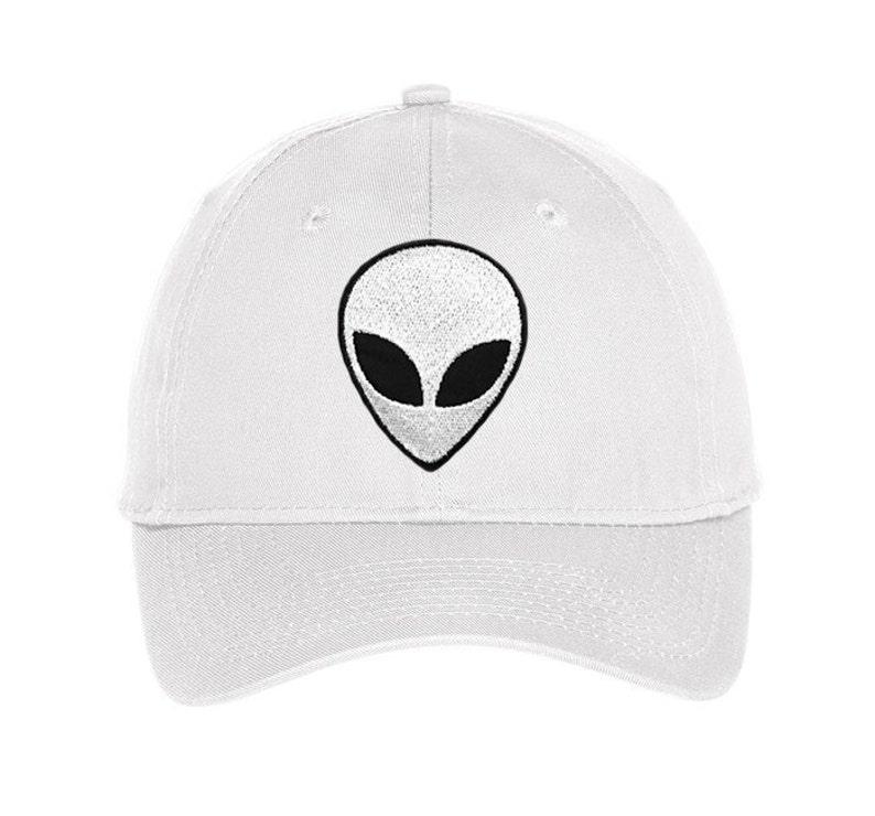 Alien Hat Embroidered baseball cap NASA Edgy Tumblr Hipster  0e030b46062a