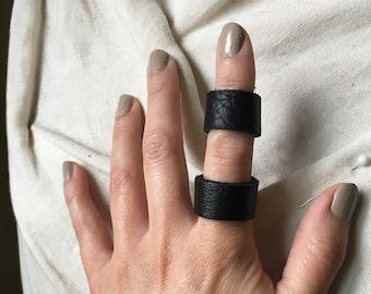 Soft Slender Leather Ring
