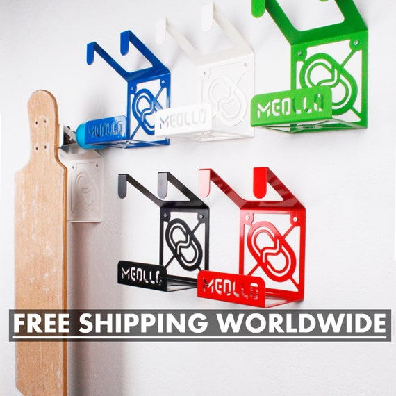 Bedwelming Muur Longboardskaten Rack / Muurbeugel voor Longboard / | Etsy &GN16