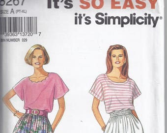 d98125620c Simplicity Pattern   8267 from 1992 Misses Skirt