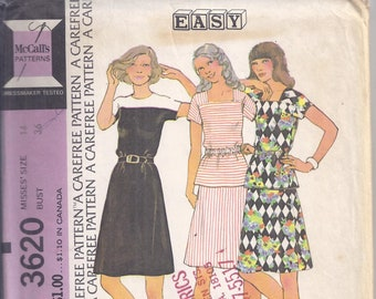 Misses/' Dress  Sewing Pattern Simplicity 2591 size 8-16 Bust 30-38 inches   Complete Uncut