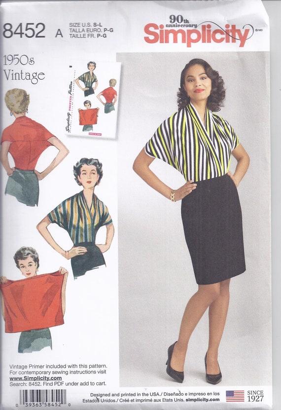 Nachdruck von Vintage Einfachheit Nähen Muster 8452 von 1950 | Etsy