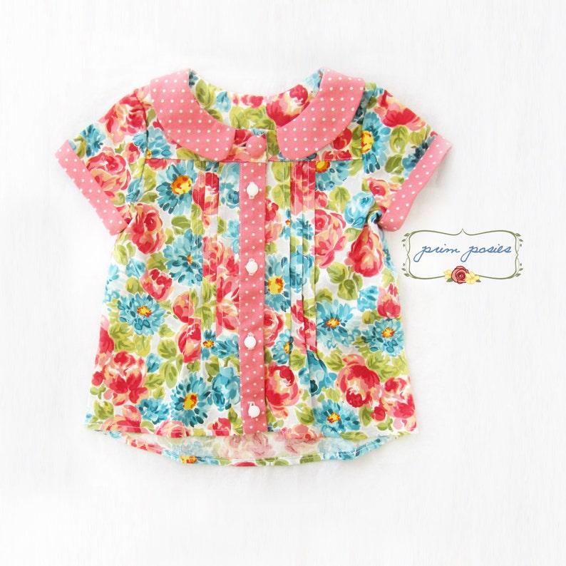 f499c21d Baby Girl Shirt Peter Pan Collar Girls Shirt Baby Girl | Etsy