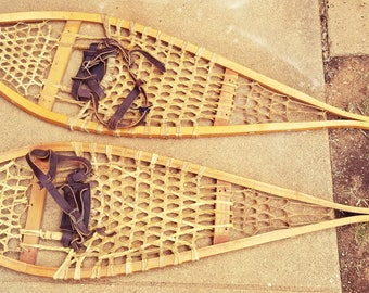 Indian made snowshoes