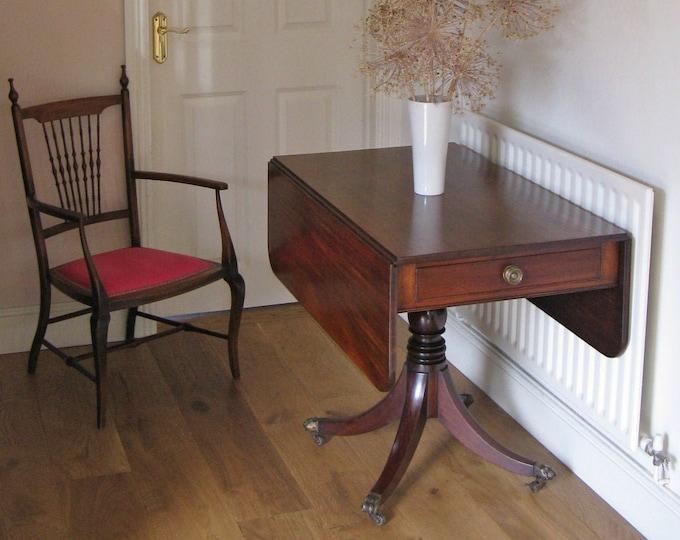 George IV Mahogany Pembroke Table on Quadruped Base