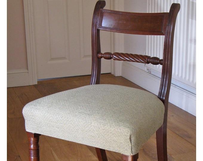 Single Victorian Mahogany Trafalgar Rope-Back Dining Chair