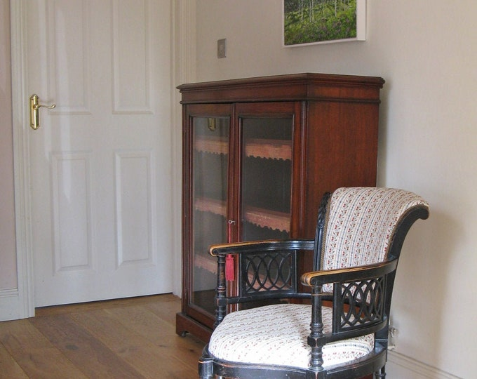 Victorian Aesthetic Style Ebonised Corner Chair by George Maddox
