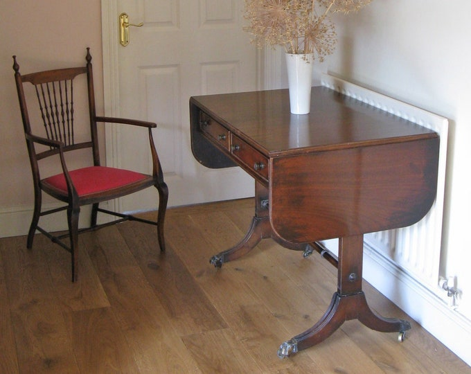 Reproduction George III Style Mahogany Sofa Table