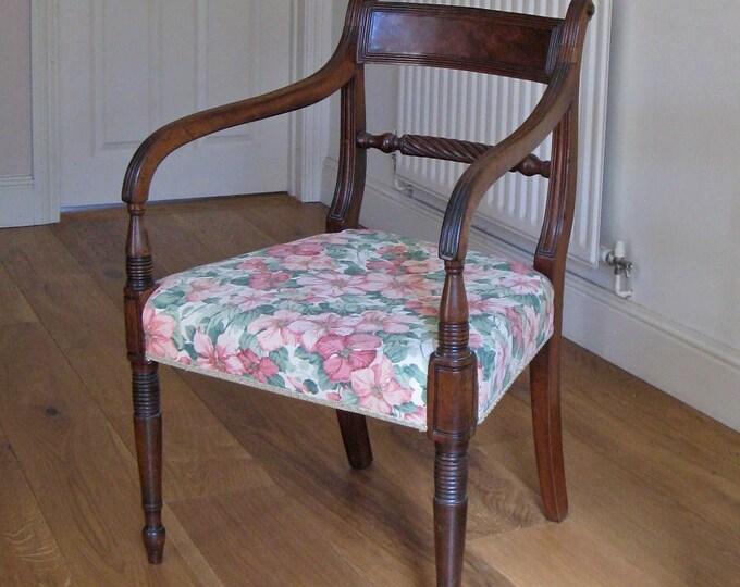 Regency Mahogany 'Trafalgar' Rope Back Carver Chair
