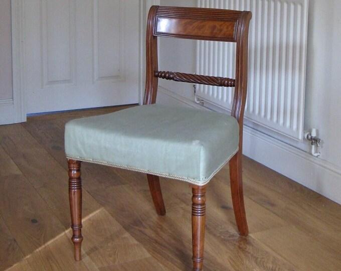 Regency Mahogany 'Trafalgar' Rope Back Side Chair