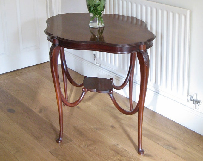 Edwardian Mahogany Centre or Occasional Table with Shaped Top